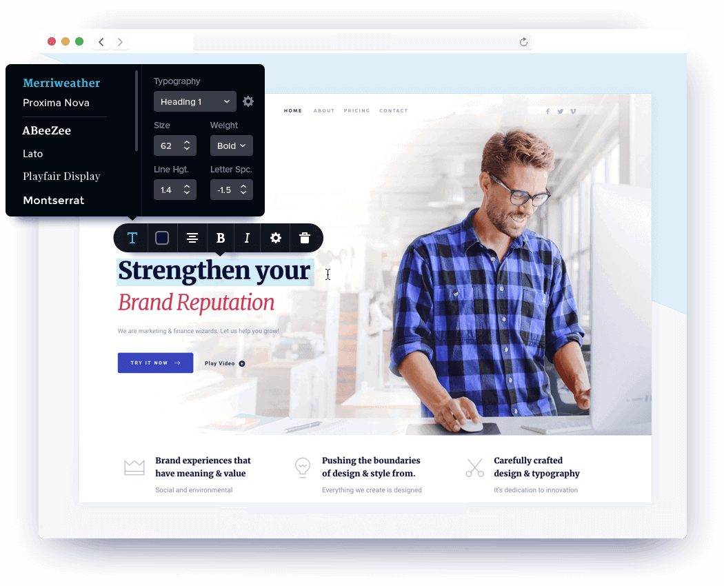 Brizy is a website and landing page builder that helps you create fast, high-quality websites to collect leads and convert more clients.