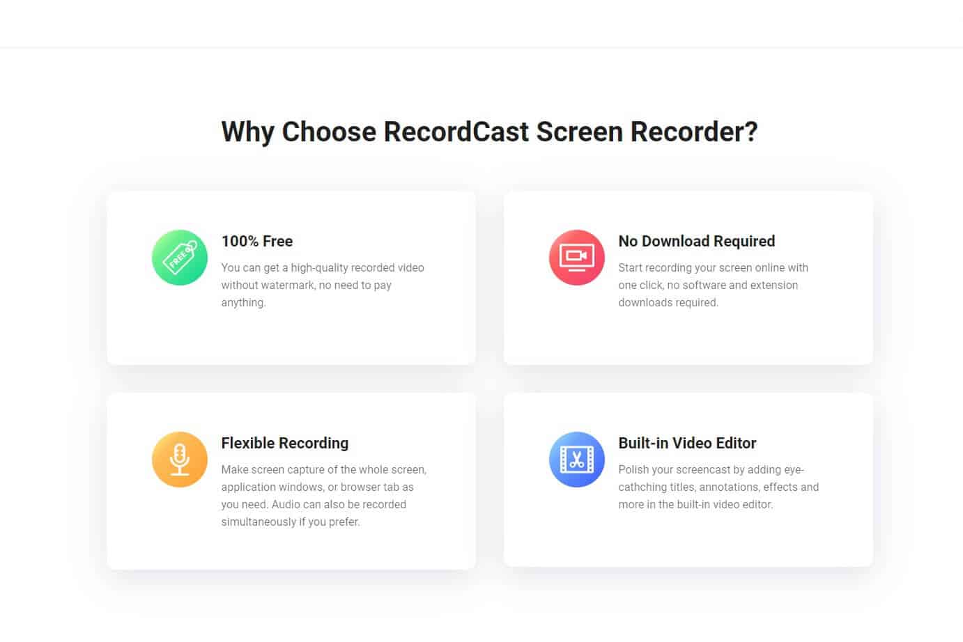 Free Online Screen Recorder and Video Editor It is100% Free